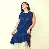 Одежда handmade. Livemaster - original item boho dress sewing, embroidery, cotton.. Handmade.