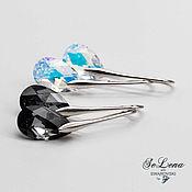 Украшения handmade. Livemaster - original item Earrings 2 pairs set Day & Nicer with Swarovski crystals. Handmade.