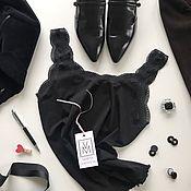 Одежда ручной работы. Ярмарка Мастеров - ручная работа Топ из итальянского хлопка с отделкой французским кружевом. Handmade.