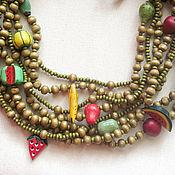 Украшения handmade. Livemaster - original item The wooden beads