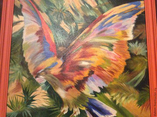 Животные ручной работы. Ярмарка Мастеров - ручная работа. Купить Картина в подарок Птица счастья. Handmade. Разноцветный, счастье