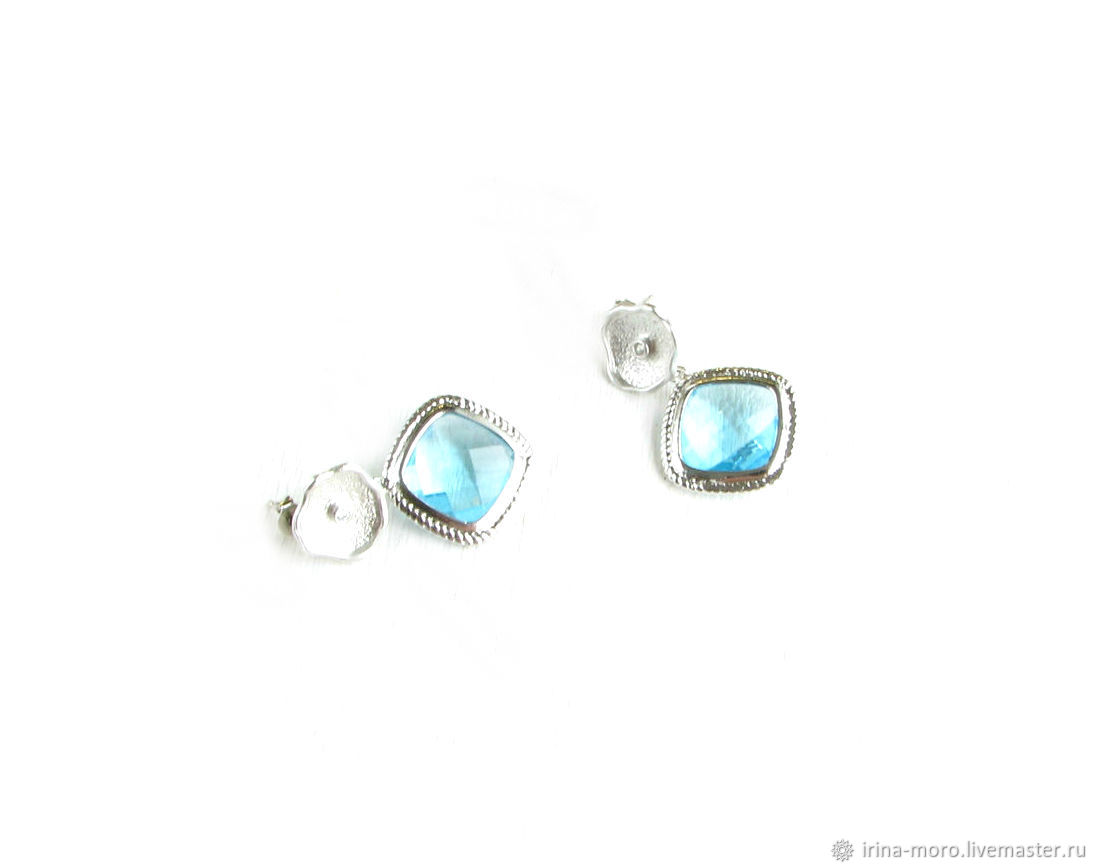 Blue Drop earrings silver earrings with pendants, Earrings, Moscow,  Фото №1