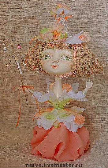 """Человечки ручной работы. Ярмарка Мастеров - ручная работа. Купить Кукла """"Цветочная фея"""". Handmade. Оригинальный подарок, авторская работа"""