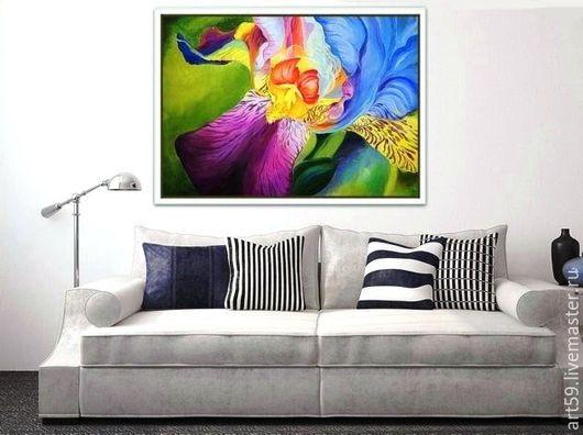 Картины цветов ручной работы. Ярмарка Мастеров - ручная работа. Купить Цветок счастья. Handmade. Комбинированный, цветы ручной работы