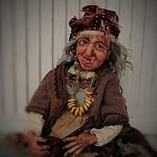 Куклы и пупсы ручной работы. Ярмарка Мастеров - ручная работа Куклы: Баба Яга с балалайкой. Handmade.