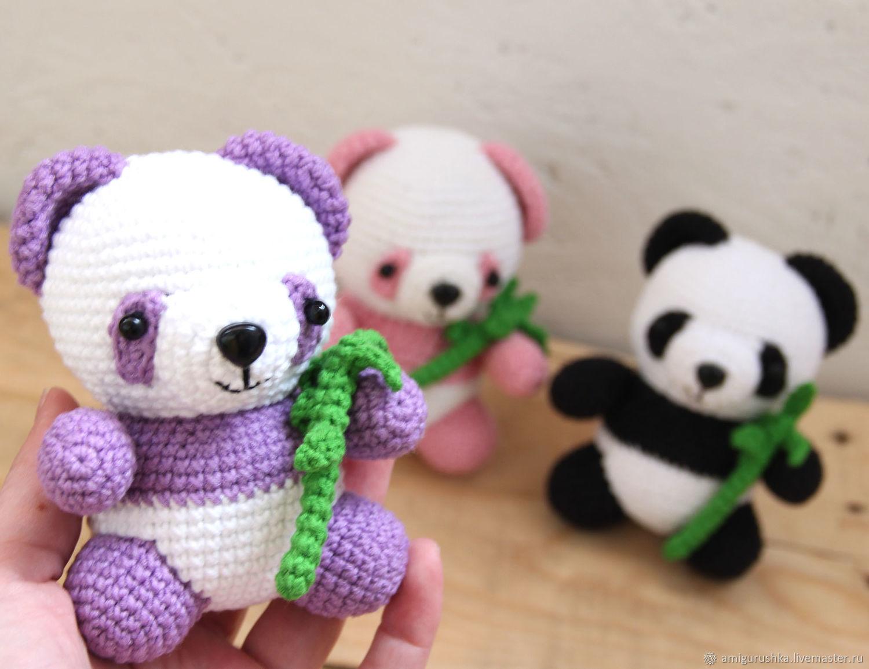 Amigurumi Bear Nose : Little purple crocheted panda crochet amigurumi u shop online on