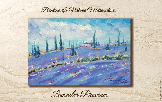 Картины цветов ручной работы. Ярмарка Мастеров - ручная работа. Купить Картина на холсте 30х20. Лавандовый Прованс. Лаванда Пейзаж. Handmade.