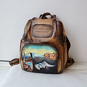 Сумки и аксессуары handmade. Livemaster - original item Backpack leather with engraving and painting to order for Eugenia.. Handmade.