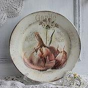 """Посуда ручной работы. Ярмарка Мастеров - ручная работа тарелка """"Чеснок"""". Handmade."""
