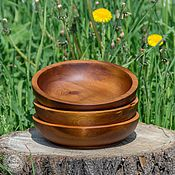 Для дома и интерьера ручной работы. Ярмарка Мастеров - ручная работа Кедровая посуда Тарелки набор 3 шт. Для пищевых продуктов и пр TN3. Handmade.