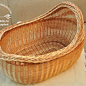 Для дома и интерьера ручной работы. Ярмарка Мастеров - ручная работа Колыбель плетеная из ивовой лозы  натуральная, безопасная для малыша. Handmade.