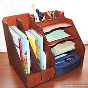 Для дома и интерьера handmade. Livemaster - original item Large wooden organiser for documents. Handmade.