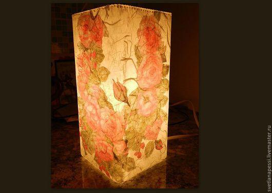 """Освещение ручной работы. Ярмарка Мастеров - ручная работа. Купить лампа """"Ах, эти розы"""".... Handmade. Оригинальный светильник, нежность"""