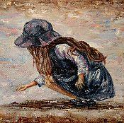 Картины и панно handmade. Livemaster - original item Oil painting ladybug. Handmade.