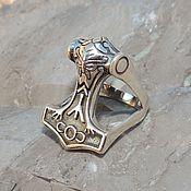 Фен-шуй и эзотерика handmade. Livemaster - original item Ring Hammer Of Thor. Handmade.