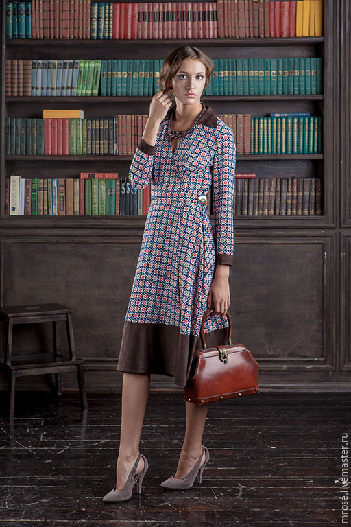 """Платья ручной работы. Ярмарка Мастеров - ручная работа. Купить Платье с запАхом из вискозы """"Агния"""". Handmade. Синий, платье с запахом"""