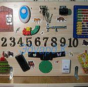 Куклы и игрушки ручной работы. Ярмарка Мастеров - ручная работа Развивающая двухсторонняя доска (бизиборд). Handmade.