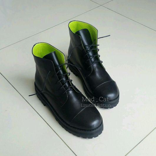 Обувь ручной работы. Ярмарка Мастеров - ручная работа. Купить Ботинки из натуральной кожи. Handmade. Ботинки, ботинки ручной работы