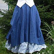 Одежда ручной работы. Ярмарка Мастеров - ручная работа №016.1 Длинная льняная юбка-бохо. Handmade.