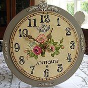 Для дома и интерьера ручной работы. Ярмарка Мастеров - ручная работа Настенные часы  Antiques (Роспись). Handmade.