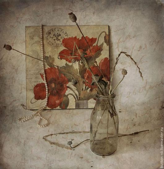 Фотокартины ручной работы. Ярмарка Мастеров - ручная работа. Купить Натюрморт Воспоминания. Handmade. Ярко-красный, сухоцветы, осень, холст