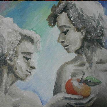 Картины и панно ручной работы. Ярмарка Мастеров - ручная работа Первое яблоко. Handmade.