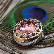 Материалы для творчества handmade. Livemaster - original item Button 18 mm silver, two color. Handmade.