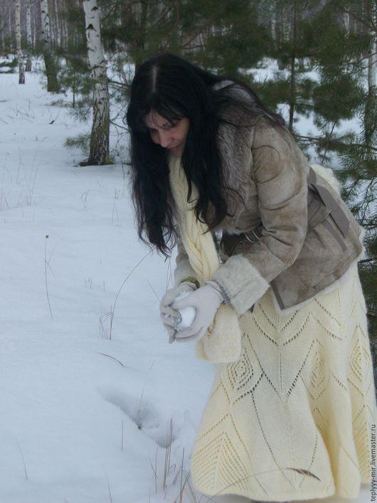 """Юбки ручной работы. Ярмарка Мастеров - ручная работа. Купить Юбочка """"Зимняя сказка"""". Handmade. Белый, юбка на осень"""