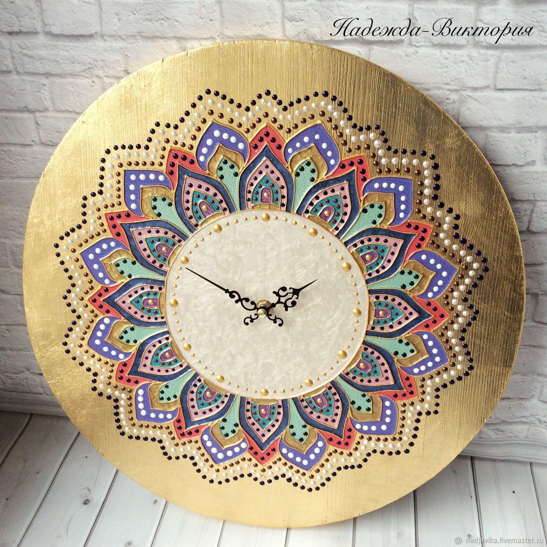 "Часы для дома ручной работы. Ярмарка Мастеров - ручная работа. Купить Часы настенные ""Мандала"". Handmade. Мандала"