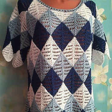 Clothing handmade. Livemaster - original item Blouse Tricolor