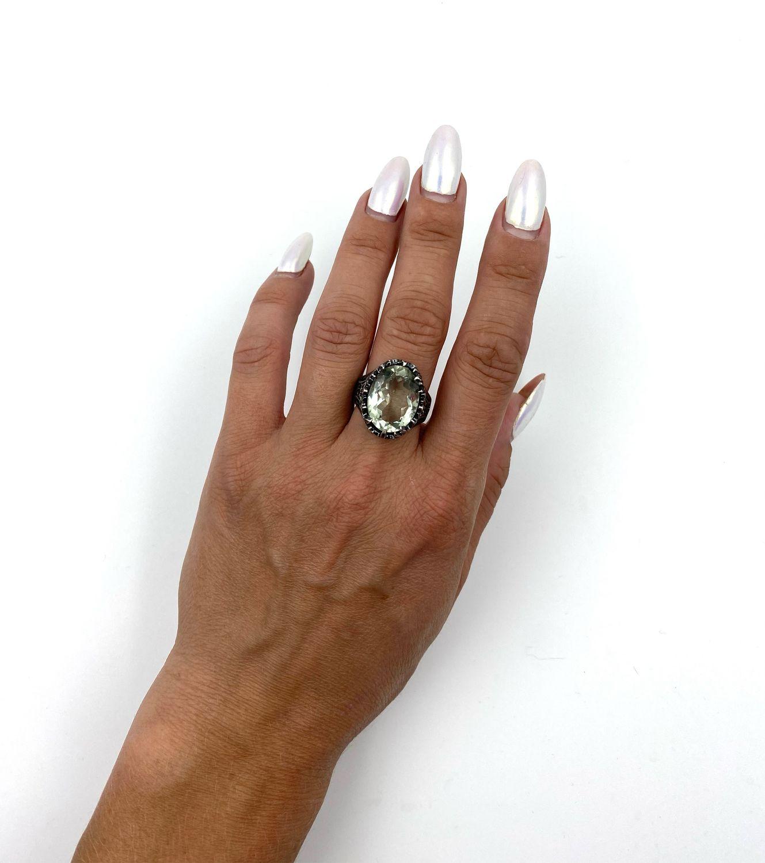 Кольцо с празеолитом, Кольца, Феодосия,  Фото №1