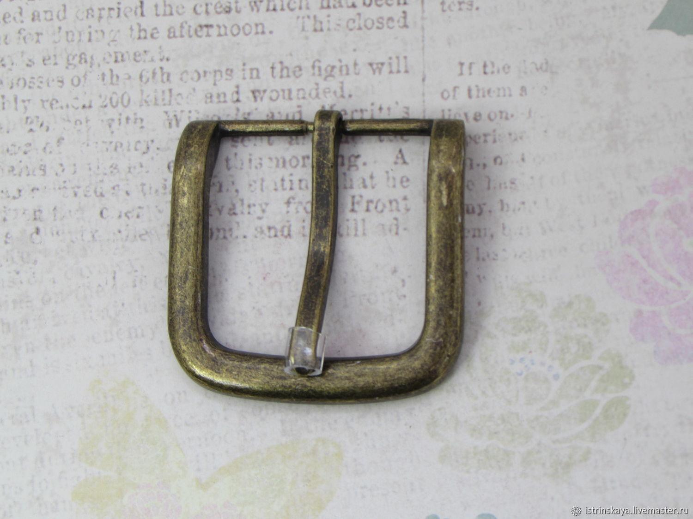 Пряжка для ремня 40 мм антик, Фурнитура для сумок, Санкт-Петербург,  Фото №1