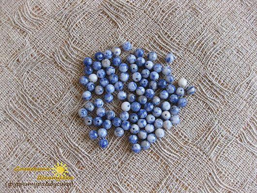 Для украшений ручной работы. Ярмарка Мастеров - ручная работа. Купить Содалит сине-белый 4 мм (бусины) (арт. 0107). Handmade.