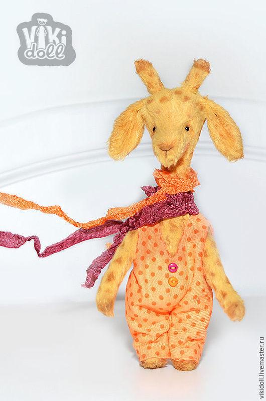 Мишки Тедди ручной работы. Ярмарка Мастеров - ручная работа. Купить Жираф тедди Генри шарфик на ветру..... (Резерв). Handmade.