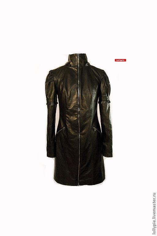 "Пальто ""Leather 2"", Верхняя одежда, Москва, Фото №1"