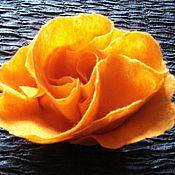 """Аксессуары ручной работы. Ярмарка Мастеров - ручная работа Шерстяной шарф """"Апельсинка"""" из войлока. Handmade."""
