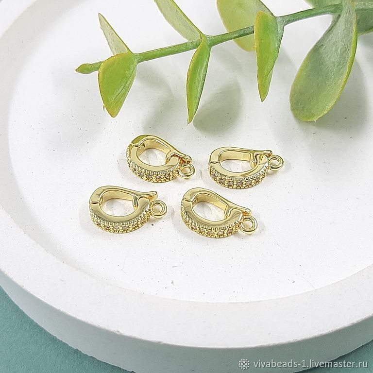 Bale detachable 12h3,5h7. 5511 mm with zircons gilding (-Z), Accessories for jewelry, Voronezh,  Фото №1