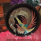 """Картины и панно ручной работы. Ярмарка Мастеров - ручная работа тарелка-панно""""птица счастья"""". Handmade."""