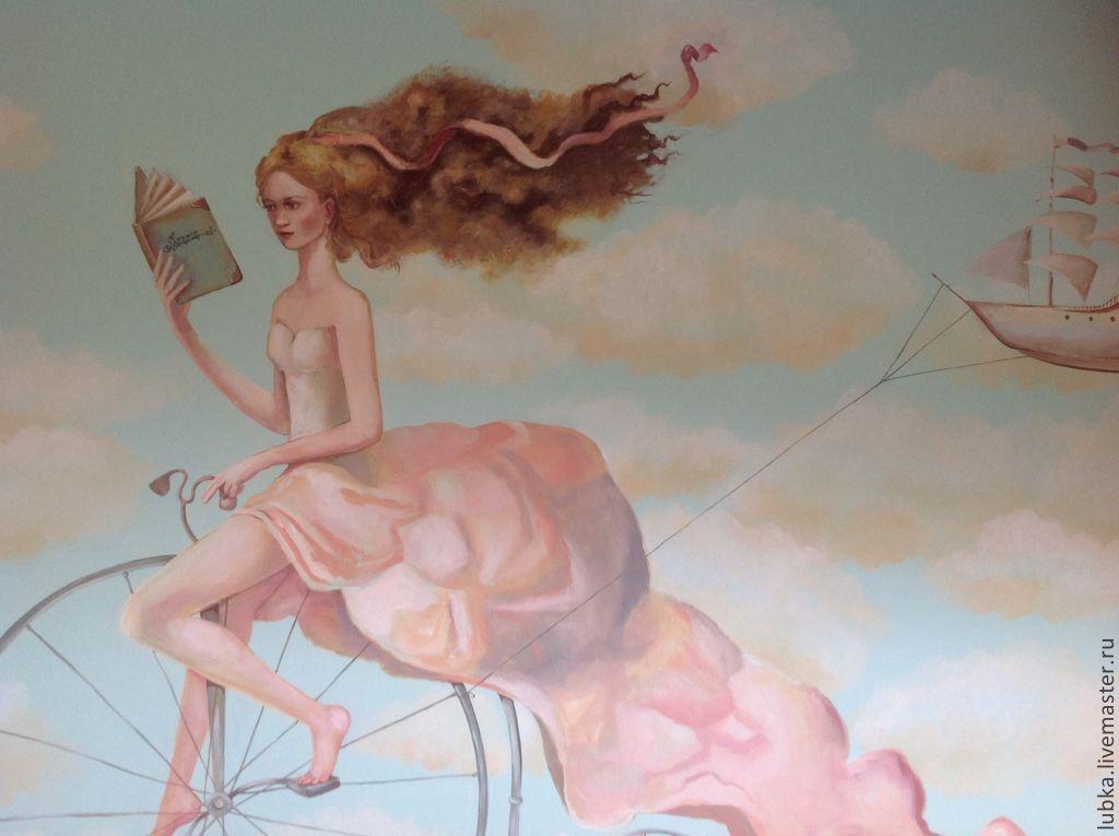 Роспись стен пастельная