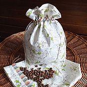 Для дома и интерьера handmade. Livemaster - original item Textile pouch for the storage of Dandelions. Handmade.
