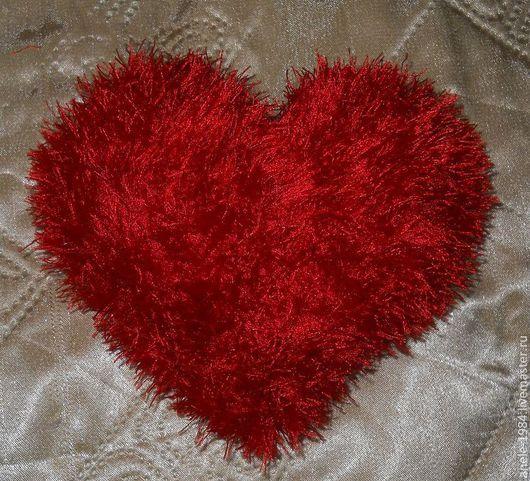 Подарки для влюбленных ручной работы. Ярмарка Мастеров - ручная работа. Купить Пушистое сердечко. Handmade. Ярко-красный, пушистое сердце