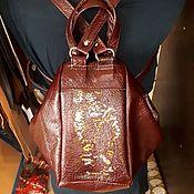 "Сумки и аксессуары handmade. Livemaster - original item Рюкзак-сумка ""Кошки ""натуральная кожа. Handmade."