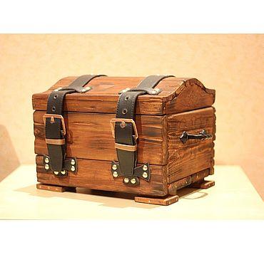 """Для дома и интерьера ручной работы. Ярмарка Мастеров - ручная работа Пиратский сундук """"Билли Бонс"""". Handmade."""