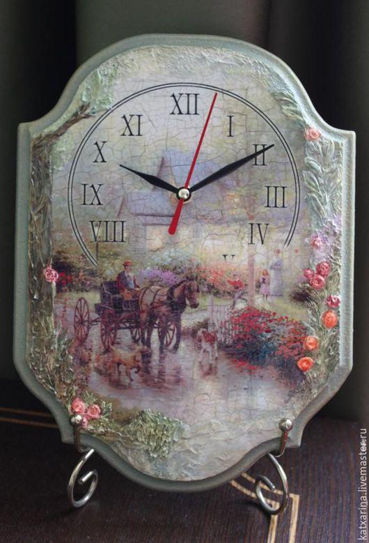 """Часы для дома ручной работы. Ярмарка Мастеров - ручная работа. Купить Часы """"Извозчик...."""". Handmade. Комбинированный"""