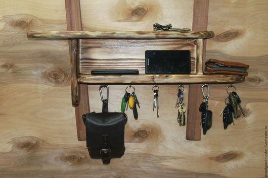 Мебель ручной работы. Ярмарка Мастеров - ручная работа. Купить Полка для ключей. Handmade. Коричневый, мебель из дерева, состаренный стиль