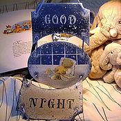 """Для дома и интерьера ручной работы. Ярмарка Мастеров - ручная работа Панно-подвеска """"Good night"""". Handmade."""