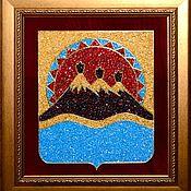 Картины и панно handmade. Livemaster - original item The Coat Of Arms Of Kamchatka. Handmade.