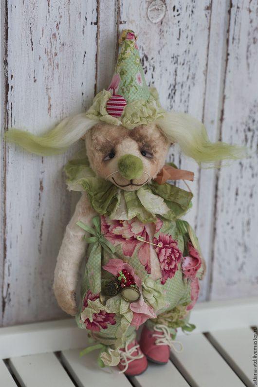 Мишки Тедди ручной работы. Ярмарка Мастеров - ручная работа. Купить Клоунесса Пуговка. Handmade. Салатовый, мишка тедди