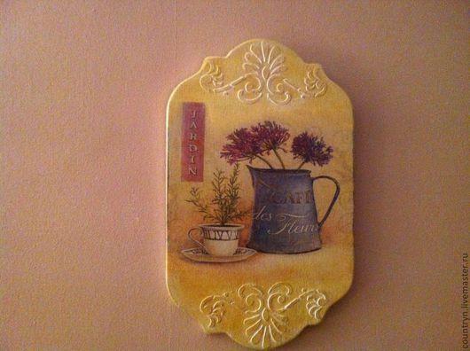"""Подвески ручной работы. Ярмарка Мастеров - ручная работа. Купить Панно """"Jardin"""". Handmade. Панно настенное, прованский стиль"""
