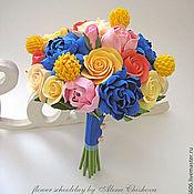 Цветы и флористика ручной работы. Ярмарка Мастеров - ручная работа Букет неввесты из полимерной глины Deco. Handmade.